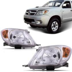 Farol Hilux Pick-Up 2005 a 2007 Pisca Ambar - Total Latas - A loja online do seu automóvel