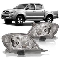 Farol Hilux Pick-Up 2008 a 2011 Pisca Cristal - Total Latas - A loja online do seu automóvel