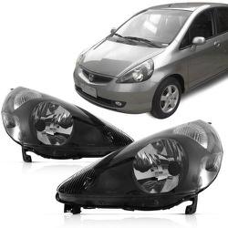Farol Fit 2003 a 2008 Máscara Preta - Total Latas - A loja online do seu automóvel