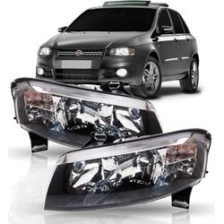 Farol Stilo 2008 a 2011 Máscara Preta - Total Latas - A loja online do seu automóvel