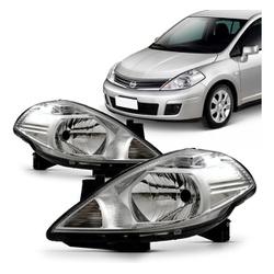 Farol Tiida 2008 a 2012 - Total Latas - A loja online do seu automóvel