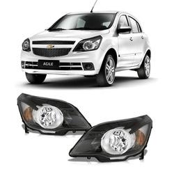 Farol Agile/ Montana 2010 a 2012 Máscara Preta - Total Latas - A loja online do seu automóvel