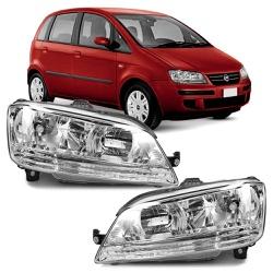 Farol Idea 2005 a 2009 Cromado - Total Latas - A loja online do seu automóvel
