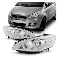Farol Idea 2010 a 2016 Cromado - Total Latas - A loja online do seu automóvel