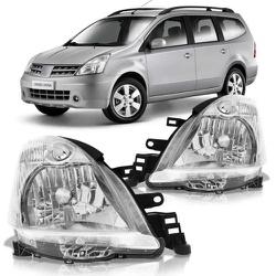 Farol Livina 2006 a 2012 Cromado - Total Latas - A loja online do seu automóvel