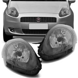 Farol Punto 2008 a 2012 Máscara Grafite - Total Latas - A loja online do seu automóvel