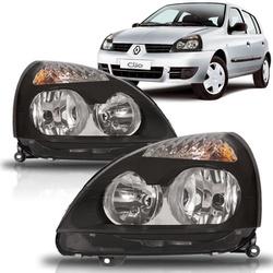 Farol Clio 2004 a 2012 Máscara Preta - Total Latas - A loja online do seu automóvel