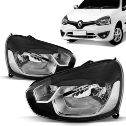 Farol Clio 2013 a 2016 Máscara Preta - Total Latas - A loja online do seu automóvel