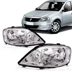 Farol Logan 2011 a 2013 Cromado - Total Latas - A loja online do seu automóvel