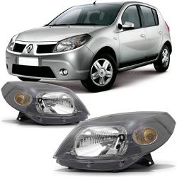 Farol Sandero 2008 a 2011 Máscara Cinza - Total Latas - A loja online do seu automóvel