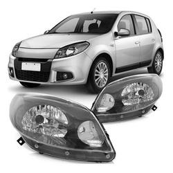 Farol Sandero 2012 a 2014 Máscara Cinza - Total Latas - A loja online do seu automóvel