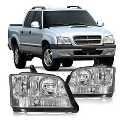 Farol S-10/ Blazer 2003 a 2005 Pisca Cristal - Total Latas - A loja online do seu automóvel