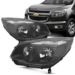 Farol S-10/ TrailBlazer 2012 a 2016 Máscara Preta ... - Total Latas - A loja online do seu automóvel