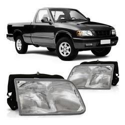 Farol S-10/ Blazer 1996 a 2000 Cromado - Total Latas - A loja online do seu automóvel