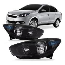 Farol Grand Siena 2012 a 2020 Máscara Preta - Total Latas - A loja online do seu automóvel