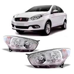 Farol Grand Siena 2012 a 2020 Cromado - Total Latas - A loja online do seu automóvel