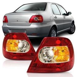 Lanterna Traseira Siena 2004 a 2007 Canto Bicolor - Total Latas - A loja online do seu automóvel