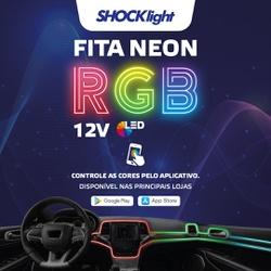 Led Fita Neon RGB 5 Canhão 12v - Total Latas - A loja online do seu automóvel