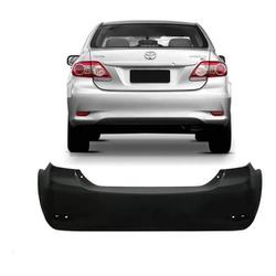 Parachoque Traseiro Corolla 2011 á 2014 Preto Liso - Total Latas - A loja online do seu automóvel