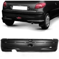 Parachoque Traseiro Peugeot de 206 até 2007 Preto ... - Total Latas - A loja online do seu automóvel