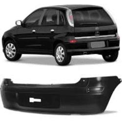 Parachoque Traseiro Corsa Hatch 2003 Preto Liso - Total Latas - A loja online do seu automóvel