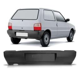 Parachoque traseiro Uno de 2004 á 2007 preto - Total Latas - A loja online do seu automóvel