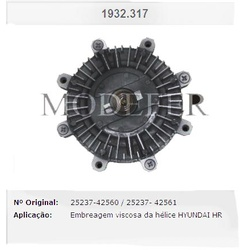 Embreagem/polia viscosa Hyundai HR 2.5 Turbo Diesel - 1932317N - AUTOPEÇAS TUNICAR