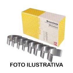 Bronzina de biela 1,00 Fusca, TL, Kombi, SP2, Brasilia, Kombi, Variant, Gol 1300, 1500, 1600 refrigerado a ar - SBB121J... - AUTOPEÇAS TUNICAR
