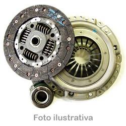 Kit de embreagem Iveco Daily 2.8 1999 a 2007 (sistema embreagem puxada) Kit composto de plato, disco e rolamento - 19661 - AUTOPEÇAS TUNICAR