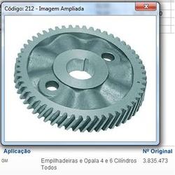 Engrenagem do comando Opala (Aluminio) 4 e 6 cilindros - APL212 - AUTOPEÇAS TUNICAR