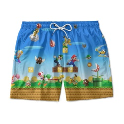 Short Praia Estampado Super Mario Bross Use Nerd - USENERD