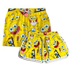 Kit Shorts Casal Masculino e Feminino Bob Amarelo...