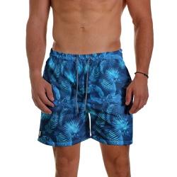 Short Praia Masculino Floral Azul Use Thuco - SH05... - Use Thuco