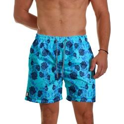 Short Praia Masculino Rosas Azul Use Thuco - SH05... - Use Thuco