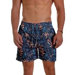 Short Praia Masculino Tropicália Azul Escuro Use T... - Use Thuco