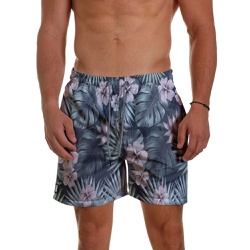 Short Praia Masculino Tropical Flowers Use Thuco -... - Use Thuco
