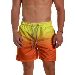 Short Praia Masculino Degrade Laranja e Amarelo Us... - Use Thuco