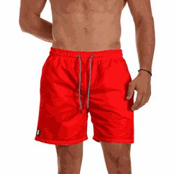 Short Praia Masculino Vermelho Liso Use Thuco - SH... - Use Thuco