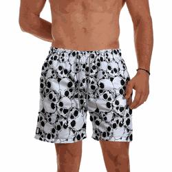 Short Praia Masculino Caveiras Branco Use Thuco - ... - Use Thuco