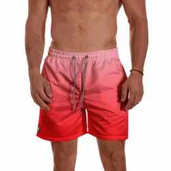 Short Praia Masculino Degrade Vermelho Use Thuco -... - Use Thuco
