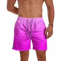 Short Praia Masculino Rosa Degrade Use Thuco - SH1... - Use Thuco