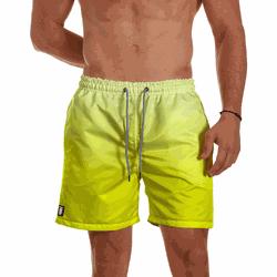 Short Praia Masculino Amarelo Degrade Use Thuco -... - Use Thuco