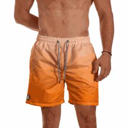 Short Praia Masculino Laranja Degrade Use Thuco -... - Use Thuco