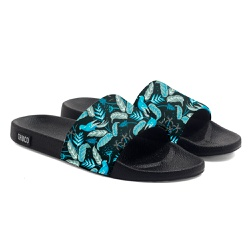 Chinelo Slide Unissex Floral Azul Use Thuco - CH05... - Use Thuco