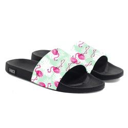 Chinelo Slide Unissex Flamingo Floral Verão Verde ... - Use Thuco