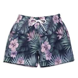 Short Praia Infantil Tropical Flowers Use Thuco - ... - Use Thuco