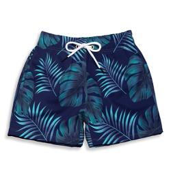Short Praia Infantil Floral Azul Escuro Use Thuco ... - Use Thuco