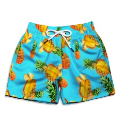Short Praia Infantil Abacaxi Verde Use Thuco - IN... - Use Thuco