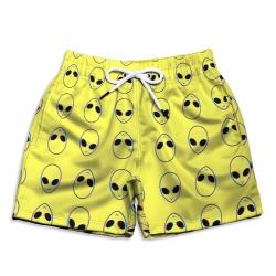 Short Praia Infantil Aliens Amarelo Use Thuco - I... - Use Thuco