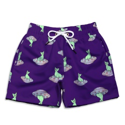 Short Praia Infantil Space Cat Use Thuco - IN1040 - Use Thuco
